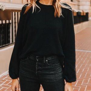 Madewell Black Payton Pullover - XS